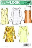 New Look Sewing Pattern 6086 Misses' Tops, Size A (10-12-14-16-18-20-22)