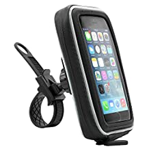 Arkon iPhone 5 iPhone 5S Samsung Galaxy S5 S4 Smartphone or GPS Bike Motorcycle Handlebar Mount with Water Resistant Holder