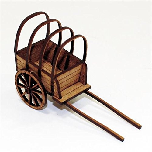 Terrain - Camps, Carts & Wagons 28mm Covered Baggage Cart (16th & 17th Century) (Pre-Painted)
