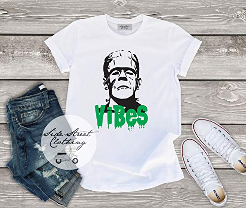 Frankenstein Vibes T shirt - baby, toddler, youth, women, men, goth, gothic, me, halloween, punk, baby's first halloween, funny, horror ()