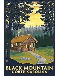 Black Mountain North Carolina Cabin Scene 36x54 Giclee Gallery Print Wall Decor Travel Poster