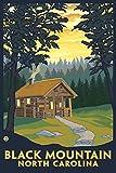 Black Mountain, North Carolina - Cabin Scene (9x12 Art Print, Wall Decor Travel Poster)