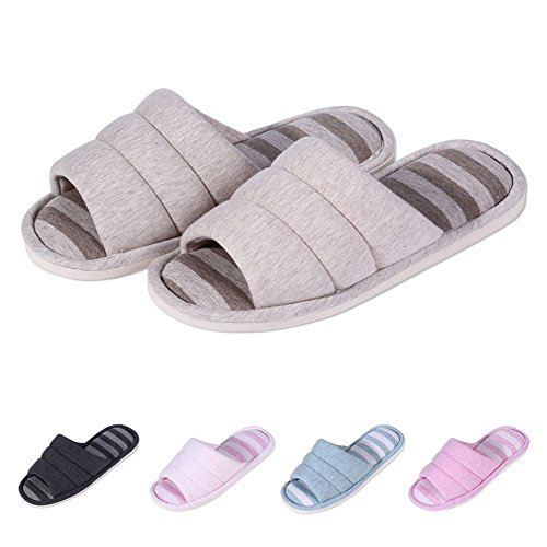 d8ceac836cb89 lovely Shevalues Women's Soft Indoor Slippers Open Toe Cotton Memory Foam  Slip on Home Shoes House