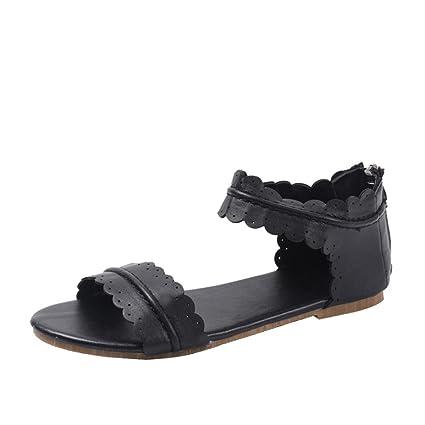 f65c4b4d04536 Amazon.com : Sunshinehomely Women Sandals Women Fashion Ruffles ...