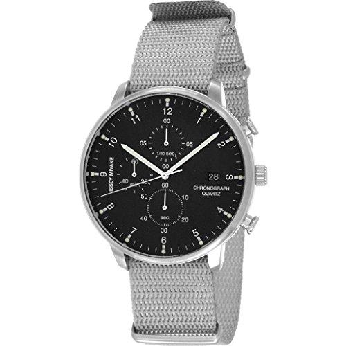 Issey Miyake C Black Chronograph Watch | Grey Nylon