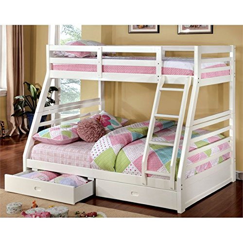 Furniture of America Torrance Twin Over Full Bunk Bed in White