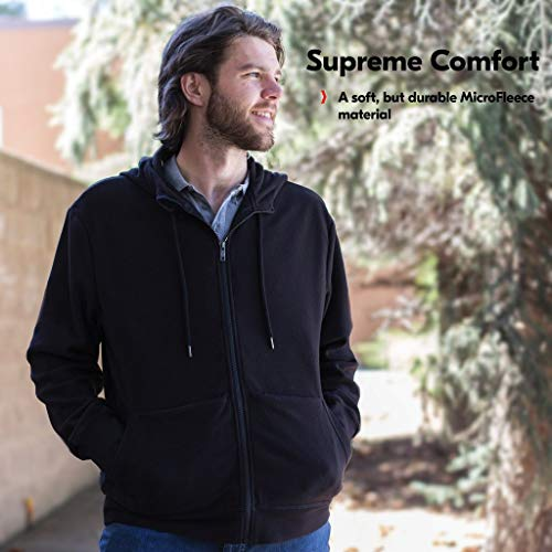 SCOTTeVEST Hoodie Microfleece - 21 Pockets Black
