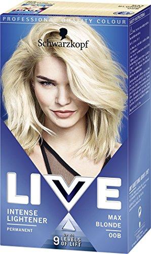Schwarzkopf LIVE Intense Lightener Permanent 00B Max Blonde - Pack of 3
