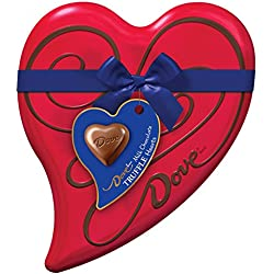 DOVE Valentine's Milk Chocolate Truffles Heart Gift Box 6.5-Ounce Tin