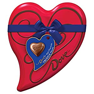 DOVE Valentine's Milk Chocolate Truffles Heart Gift Box 6.5-Ounce Tin