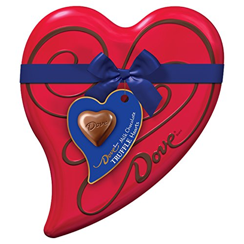 DOVE Valentine's Milk Chocolate Truffles Heart Tin 6.5-Ounce Tin