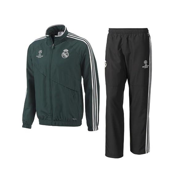2012-13 Real Madrid Adidas UCL Presentation Tracksuit (Green ...