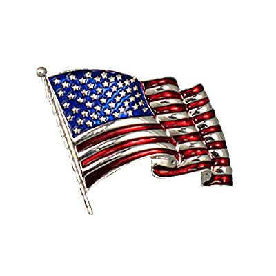 Nice Waving Old Glory Flag Pin/Brooch hot sale