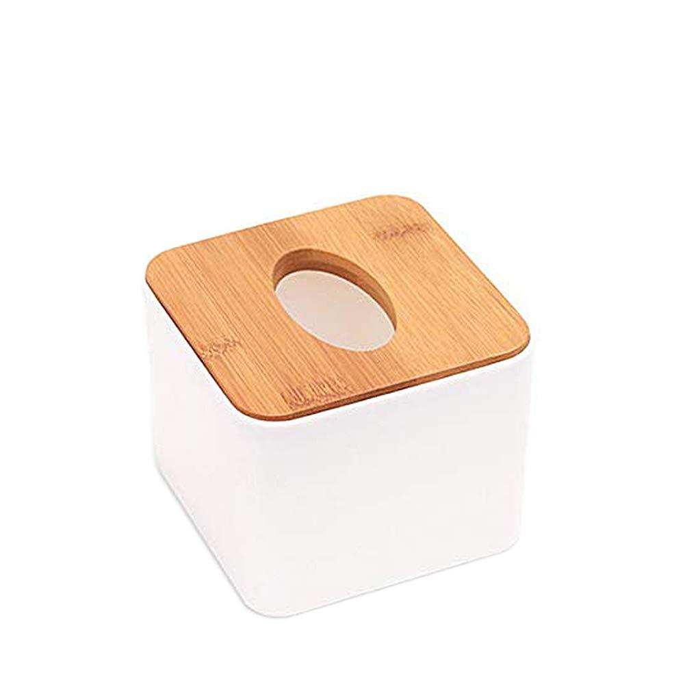 Doitsa 1/x Caja de Pa/ñuelos Beau Estilo Simple Caja de Pa/ñuelos Cuadrados para Restaurante hogar Hotel Oficina Coche Size 11/* 11/* 8.5/cm Apertura Ovalada con Tapa