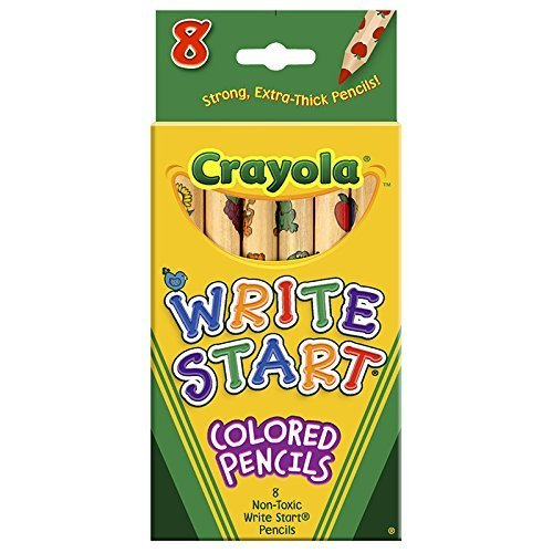 Crayola Bulk Buy Write Start Colored Pencils 8 Pack 68-4108 (3-Pack) by Crayola