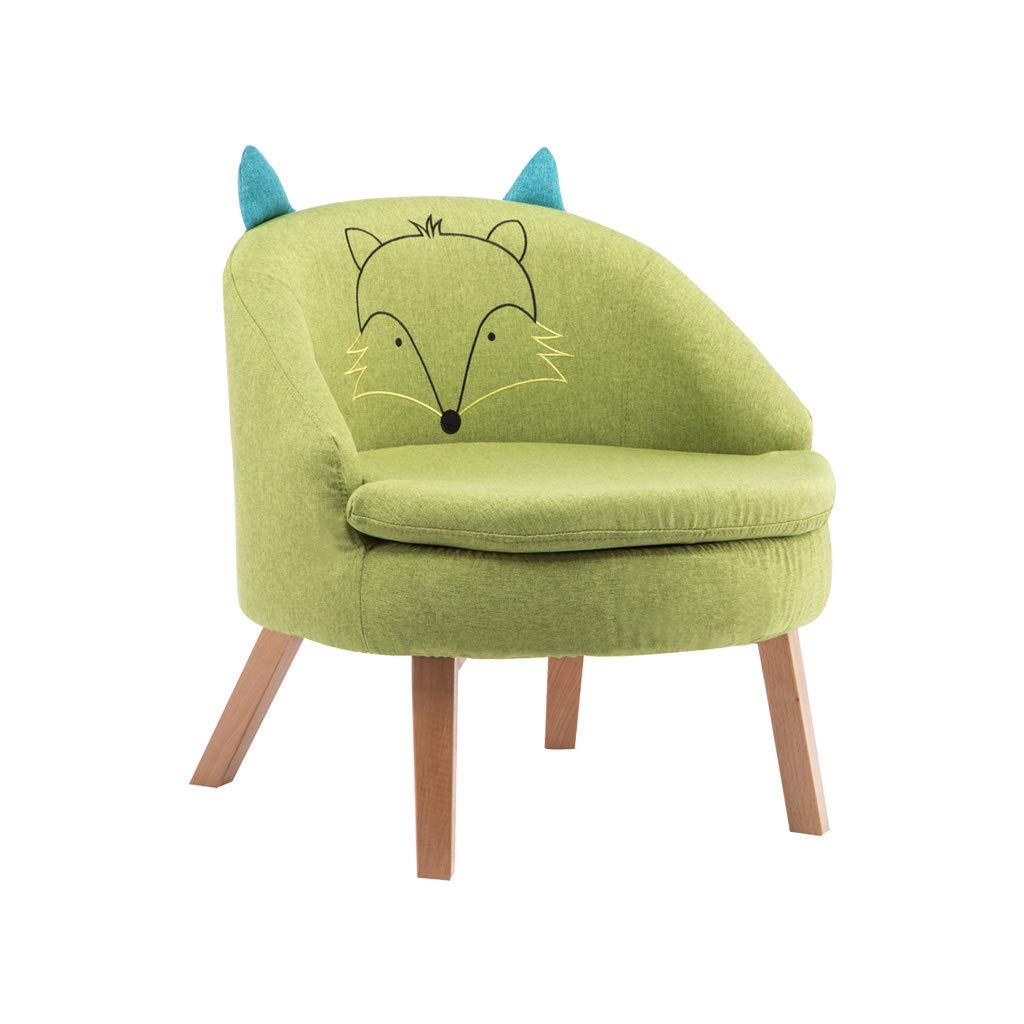 WANGJIN-Sofa infantil Juego de sofás para niños de Primera Calidad con Asiento Individual Asientos para niños Juegos de sofá Sillón Silla Asiento Reposapiés 4 Piernas Extraíble Lavable (Verde)