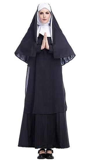 Nonne Kostum 2tlg Damen Kostum Nonnenkostum Fasching Karneval Nonnen