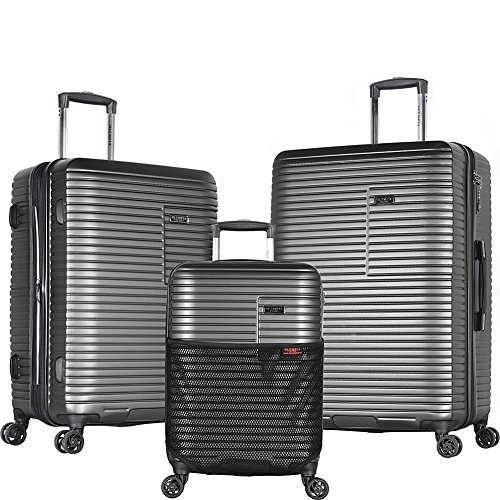 Olympia Taurus 3 Piece Luggage Set 21/25/29 Inch, Charcoal G
