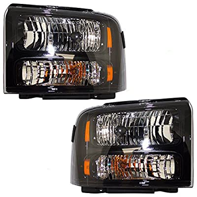 Driver and Passenger Headlights Replacement for Ford Pickup Truck 6C3Z 13008 DB 6C3Z 13008 CB
