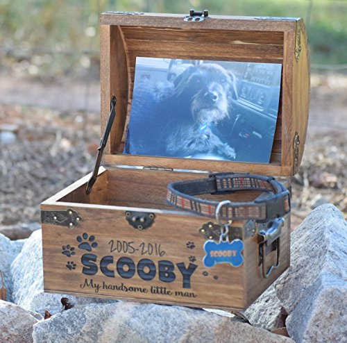 Pet Memory Box - Pet Keepsake Box - Memorial Box - In Memory - Sympathy Gift - Pet Memorial Pet Urn - Personalized Pet Urn - Pet Memory - Chest Memorial
