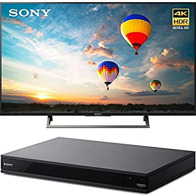 """Sony XBR55X800E 55"""" 16:9 4K HDR Edge Lit LED UHD LCD Android TV with Google Home Compatibility 3840x2160 & Sony UBPX800 4K HDR UHD Blu-Ray Player with Dolby Atmos 3D"""