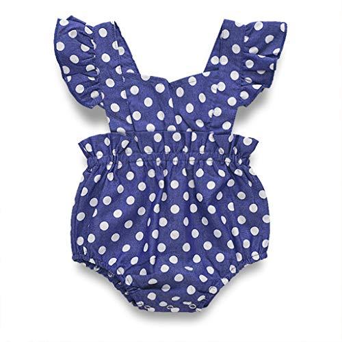 7c03f4b1e08 Toddler Kids Baby Girls Dot Ruffle Sleeveless Vest Dress Romper Child Kid  Skirt