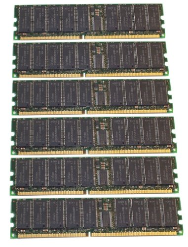 (Not for PC!) 6GB 6x1GB Memory Intel SE7501WV2 DDR-266 PC2100 ECC REG (MAJOR (Pc 2100 Ddr266 Computer Memory)