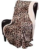 "Regal Comfort Sherpa Luxury Throw Cheetah Print (50"" x 70"")"