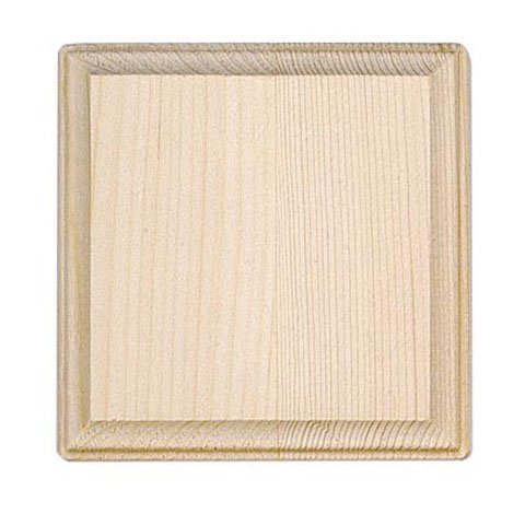 Wood Plaque 5 Inch Square x 6 Pieces 9179-61-B6 (Craft Plaque Unfinished)