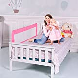 59'' Breathable Baby Children Toddler Bed Rail - Pink by SpiritOne