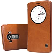 """Quick Circle Case for LG G4 H815 H810 Nillkin Slim Flip Leather Cover Smart Sleep Wake Protection Shell for LG G4 5.5 """" (Brown) by Capas"""