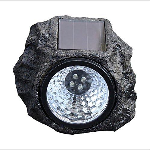 Luces Solares Roca, 4 LED Piedra Decorativa Luces Solares Para Jardín Luces Jardín Jardines, Caminos Y Patios Proyector Para Exteriores Proyector: Amazon.es: Iluminación