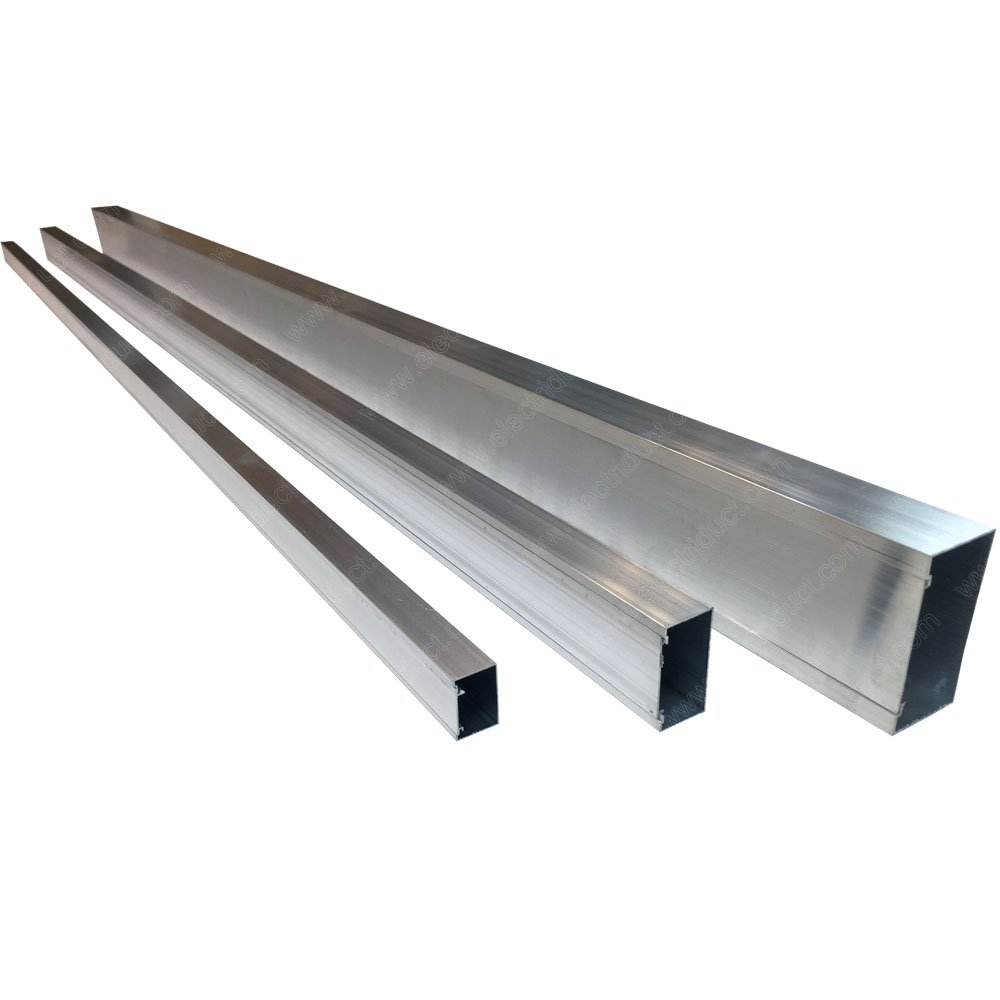 Aluminum Metal Surface Cable Raceway - Size: 4''W x 2''H - Length: 59'' - 3 Pieces by Electriduct