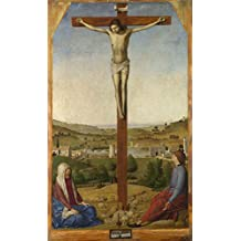 Oil painting 'Antonello da Messina Christ Crucified ' printing on polyster Canvas , 30 x 50 inch / 76 x 127 cm ,the best Bedroom decor and Home gallery art and Gifts is this Reproductions Art Decorative Canvas Prints