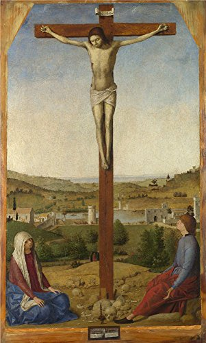 Oil Painting 'Antonello Da Messina-Christ Crucified,1475', 24 x 40 inch / 61 x 101 cm , on High Definition HD canvas prints is for Gifts And Basement, Garage And Nursery Decoration, huge