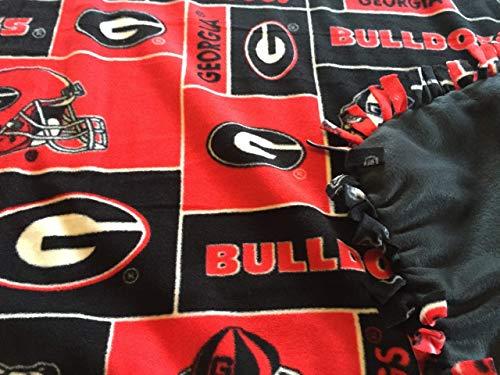 (University of Georgia Lap Throw Blanket/GA Bulldogs throw/Christmas gifts)