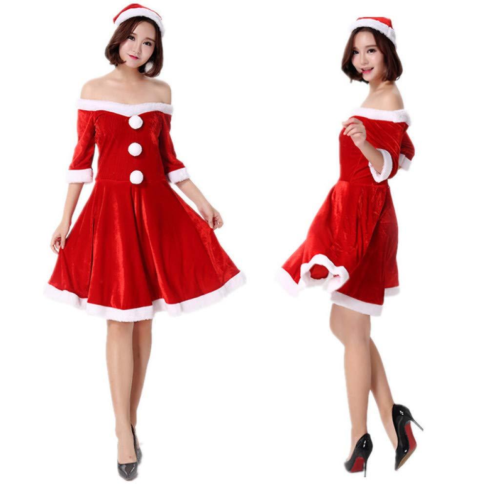 Lili Weihnachtsmann Luxus Kostüm Anzug Erwachsene Cosplay Kostüm Luxus Outfit,ROT a688b4