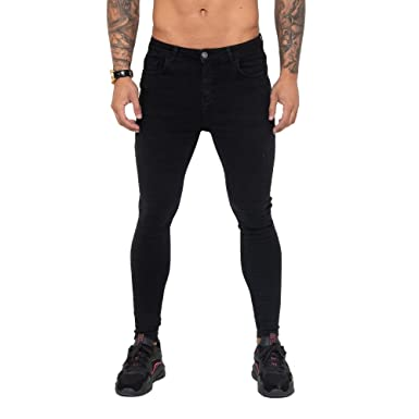 f99dc2362c06 Nimes Super Skinny Spray on Non-Ripped Jeans Black-34S at Amazon ...