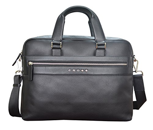 CROSS Nueva FV Men's Genuine Leather Briefcase / Office / Business Bag - Black (Belt Gucci Men Replica)