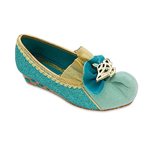 Disney Jasmine Costume Shoes for Girls Size 11/12 YTH Blue ()