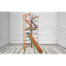 FREE SHIPPING Indoor Wooden Playground KN-03-220 Swedish ladder Gymnastic sportcomplex