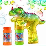 Outdoor Toys for 2-6 Year Old Boys Girls, Fun Cool Dinosaur Bubble Shooter Gun Blower with Flashing Lightsor Kids Christmas Birthday Presents Gifts for 2-6 Year Old Boys Girls stocking stuffer ESBG01