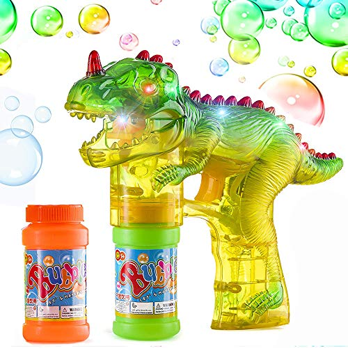 Outdoor Toys For 2 6 Year Old Boys Girls Fun Cool Dinosaur Bubble Shooter Gun Blower