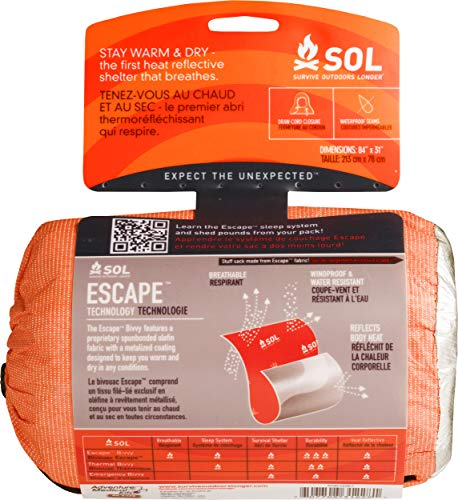 Adventure Medical Kits - Saco de Dormir Momia para Acampada, Color Naranja 1