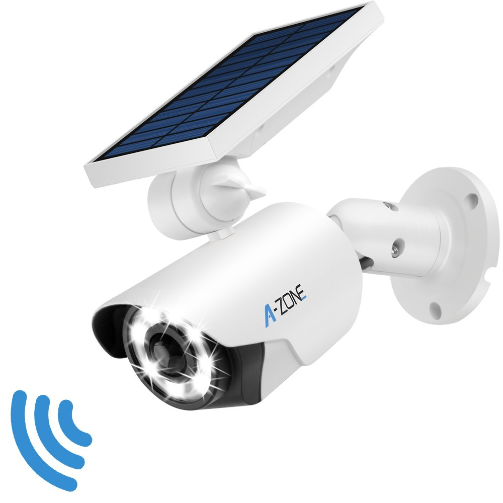 Solar Motion Sensor Light Outdoor - 800Lumens 8 LED Spotlight 5-Watt Solar Lights Outdoor IP66 Waterproof, Wireless Solar Flood Light for Porch Garden Patio Driveway Pathway,Aluminum(White)