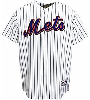 c158b0632 VF New York Mets MLB Home White Majestic Replica Jersey Men s Big   Tall  Sizes (