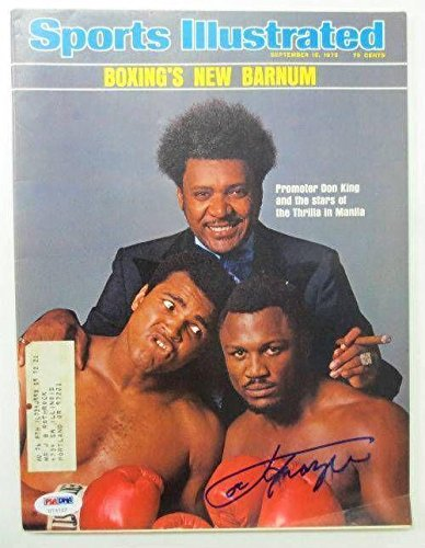 Joe Frazier Boxing Signed September 15, 1975 Sports Illus...