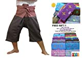 HITHOT SPORTY FOR YOU 2 TONE Thai Fisherman Pants 3/4 (32'' long) Mid-Calf Wrap Yoga