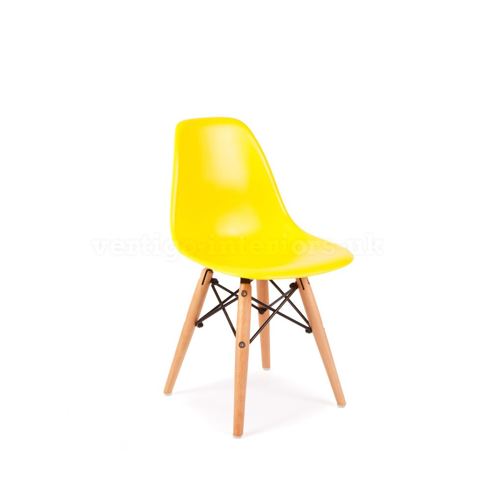 *Set of 6* Eames Style Kids DSW Dining Playroom Bedroom Side Chair - Yellow