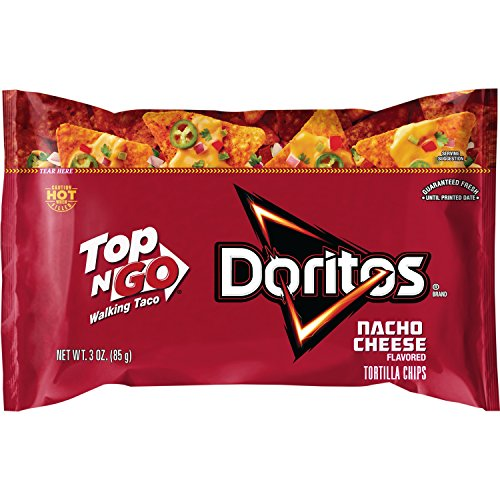 Frito-Lay Top N Go Doritos Nacho Cheese, 2.5oz (12 Count)